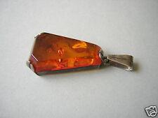 Antiker Luis Vausch Honig Natur Bernstein 835 Silber Anhänger 4,2 g Amber Fisch