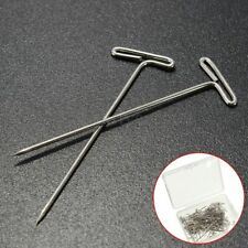 100Pcs 32mm Long Metal T Pins For Modelling Macrame Wigs Sewing Craft DIY Silver