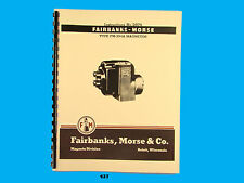 Fairbanks Morse Magneto Instruct & Parts Manual for FM-JG4A  Mags  *427