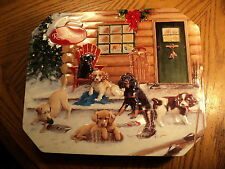 """Russell Stover Christmas At The Cabin Tin -  10-1/16"""" X 8-5/16"""" X 1-5/8"""""""