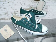 Converse All Star Low / Made in USA / Mens: 3 1/2 / Womens: 5 1/2 / Green Canvas