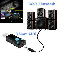 3.5mm AUX Audio Wireless USB Bluetooth Adapter Receiver For Car Stereo and Home