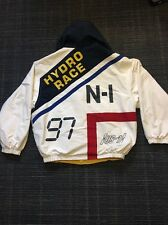 Vintage Nautica Hydro Race Jacket Rare White Yellow Reversible Men's M