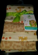��DISNEY BABY THE LION KING UNDER THE SUN SIMBA 4 FLANNEL RECEIVING BLANKETS.