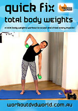 Weights EXERCISE DVD - Barlates Body Blitz QUICK FIX TOTAL BODY WEIGHTS!