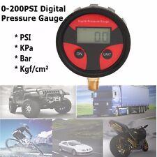 0-200PSI LCD Digital Tyre Tire Air Pressure Gauge Motorcycle Car Truck Bike