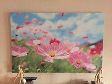 Quadro stampa su tela tema floreale dimensioni 116 cm x 78 cm in ottime cond