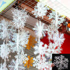 30 White Snowflake Festival Charms Christmas Holiday Party Ornaments Decoration