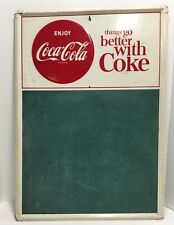 Original Vintage Enjoy Coca-Cola Menu Board
