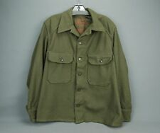 US Army wool field Shirt Jacket size M khaki olive Military Korean war USA 1952