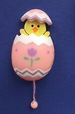 Buy3/Get1FREE~RUSS Easter Pin Chick DUCK Pop Up Pull String EGG Vtg Holiday