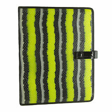 MARC BY MARC JACOBS Yellow/ Black Leather Embossed Snake IPad Notebook Case USED