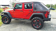 Jeep Wrangler OFF ROAD 4X4 Splash Stripes Graphics Decals Vinyl Stickers 2007