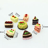 8Pcs Dollhouse Miniature Cakes Assorted Chocolate Strawberry Cherry Cakes Hot