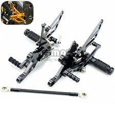 Adjustable Rearset Foot Pegs Rear Sets For Yamaha YZF R1 2004 2005 2006 Black