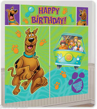 Scooby Doo Happy Birthday Muro Sfondo Scenario Striscione Festa Decorazioni