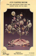 "UNCUT 1991 Buckeye Tree Sewing Craft Pattern #131 ""Easter Decor"" Tree Skirt +mor"