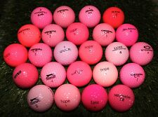 24 Near Mint Assorted Pink Mix AAAA Used Golf Balls - FREE SHIPPING
