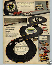 1972 PAPER AD 4 PG Tyco Pro Tycopro Toy Slot Race Car Sets HO Scale The Wild One