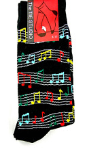 Colourful Sheet Music Socks - Music Themed Gift - Musical Socks for Men