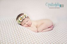 Daisy Chain tieback headband halo Crown. Many Colours. Newborn. Photography prop