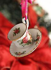 NEW Royal Albert Old Country Roses Teacup & Saucer Ornament