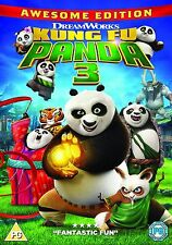 KUNG FU PANDA 3 Awesome Edition UK R2 DVD NEW 3rd Third Part Three Animated 2016