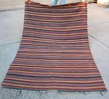 19th C. Rare Lg. Turkish Striped Kilim – West Anatolian Region, Turkey  (1)