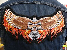 GRAND ECUSSON PATCH THERMOCOLLANT/ AIGLE CRANE FLAMME biker country route 66 usa