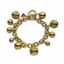 Guess UBB80813 Women's Gold-Plated Ball Charm Bracelet