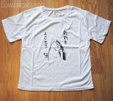 Tuna fish pistol t-shirt, japan Kana, kawaii, food, weird - size 8 UK harajuku