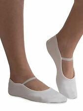 GK Elite GK21 White Suede Sole Gymnastics Dance Slippers, Adult Size 9 NEW