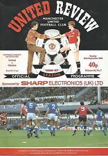 Football Programme - Manchester United v Chelsea - Div 1 - 28/9/1986