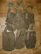 Lot of 6 Vintage soviet USSR Russian Army Surplus GP-5 Canvas Carrier mask Bags