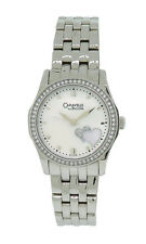 Caravelle by Bulova 43L128 Womens Clear Stone Mother of Pearl Heart Analog Watch