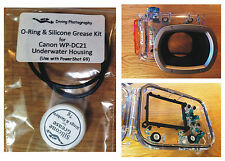 Replacement O-ring & Silicone Grease Kit for Canon WP-DC21 Underwater House Case