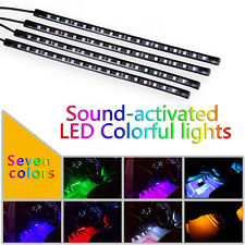 7Color 5050 RGB LED Strip Waterproof Under Car Interior Neon Light Music Control