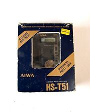 Vintage AIWA HS-T51 Portable FM/AM Cassette Tape Player walkman in Box retro