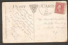 1918 military post card Camp Devens Ayer MA to Harold Haskell Lake George NY