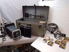 Graflex Super Graphic Camera Kit w/135mm Optar Lens Wollensak Lens Original Case