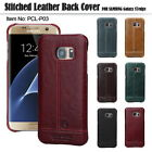For Samsung Galaxy S7 Edge Case,Pierre Cardin Genuine Leather Hard Back Cover