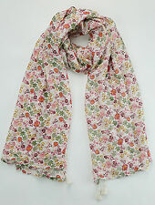 NEW FAT FACE MULTICOLURED SMALL FLORAL PRINT SCARF