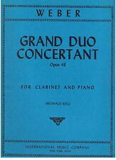 Weber: Gran Duo Concertante op. 48 Per Clarinetto e Pianoforte  International