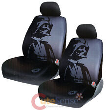 Star Wars Darth Vader 2 Front Car Seat Cover Set Auto Accessory with Head Covers