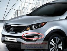 For2011 ~ KIA SPORTAGE Bumper Chrome Fog Lamp Garnish Cover Genuine Parts OEM