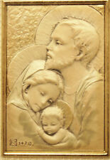 THE HOLY FAMILY STERLING SILVER PICTURE MADE IN ITALY FROM SALERNI COLLECTION