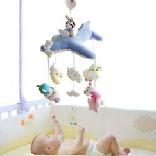 Shiloh Deluxe Baby Plush Crib Mobile with 60 songs Musical Box & Arm Blue Plane