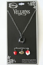 NEW Disney Villains Interchangeable Charms Necklace Evil Queen Maleficent Ursula