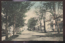1913 POSTCARD CUBA NY/NEW YORK MAPLE STREET HOMES HOUSES