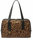 Fossil Memoir Biography Haircalf Satchel (Cheetah)